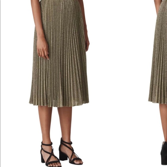 d0bd33d5e3 Whistles Skirts | Sparkle Pleated Skirt In Wine Color | Poshmark